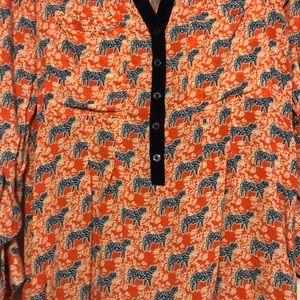 Anthropologie Tops - Vanessa Virginia roll tab tiger shirt